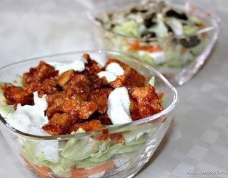 Овощной салат с мясом