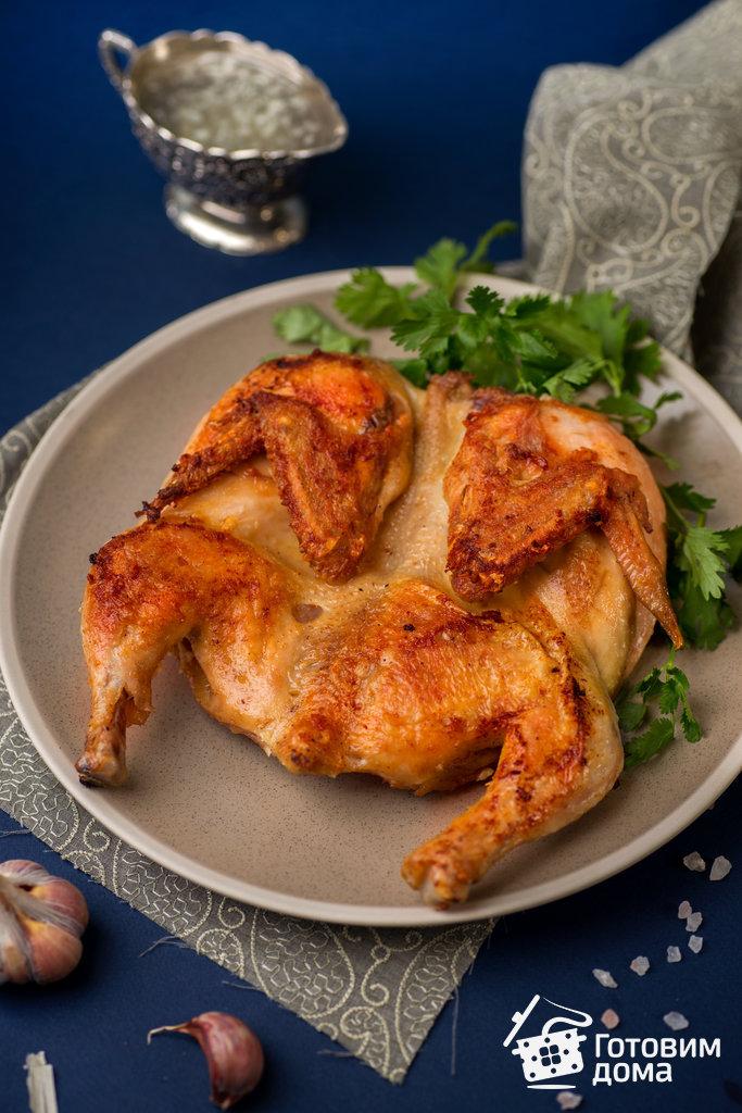 Рецепт цыплята табака на сковороде