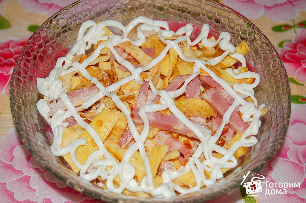 салат в омлетом и ветчиной рецепт с фото