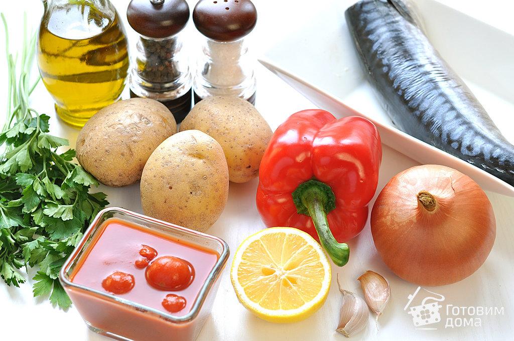 Скумбрия, запеченная с картофелем и болгарским перцем - пошаговый рецепт с фото на Готовим дома