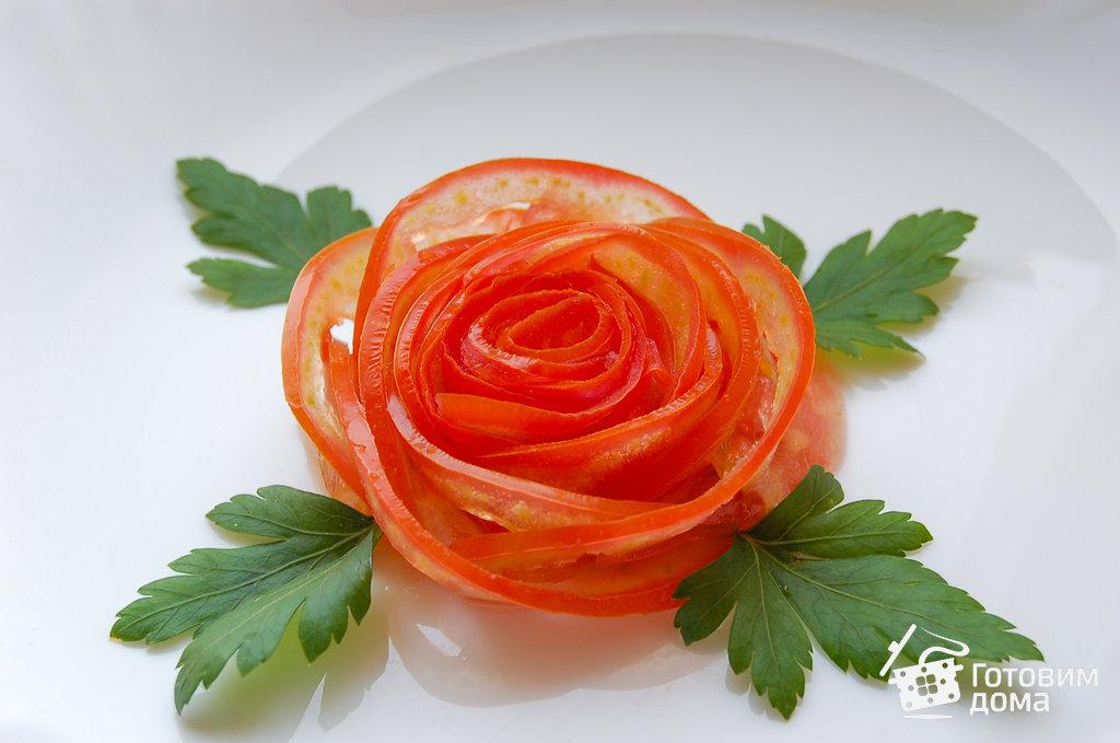 Роза из помидора - пошаговый рецепт с фото на Готовим дома 67