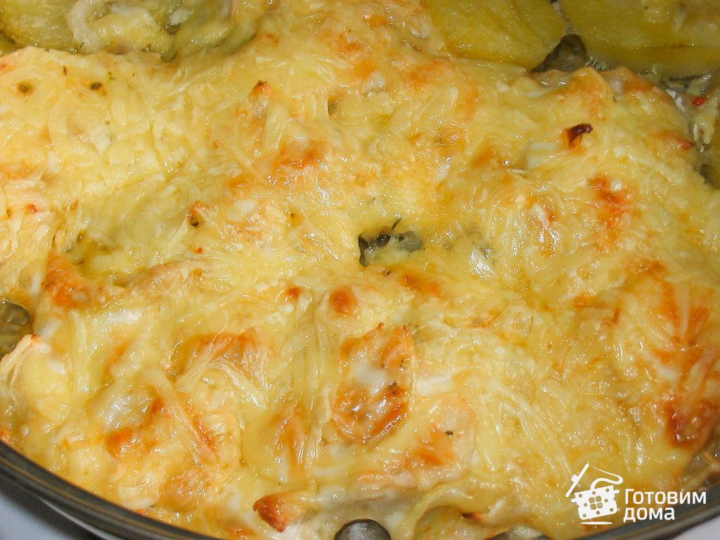 рецепт рыбы под майонезом и сыром в духовке