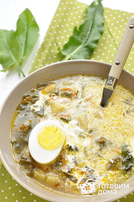 рецепт щавелевого супа с яйцом готовим дома