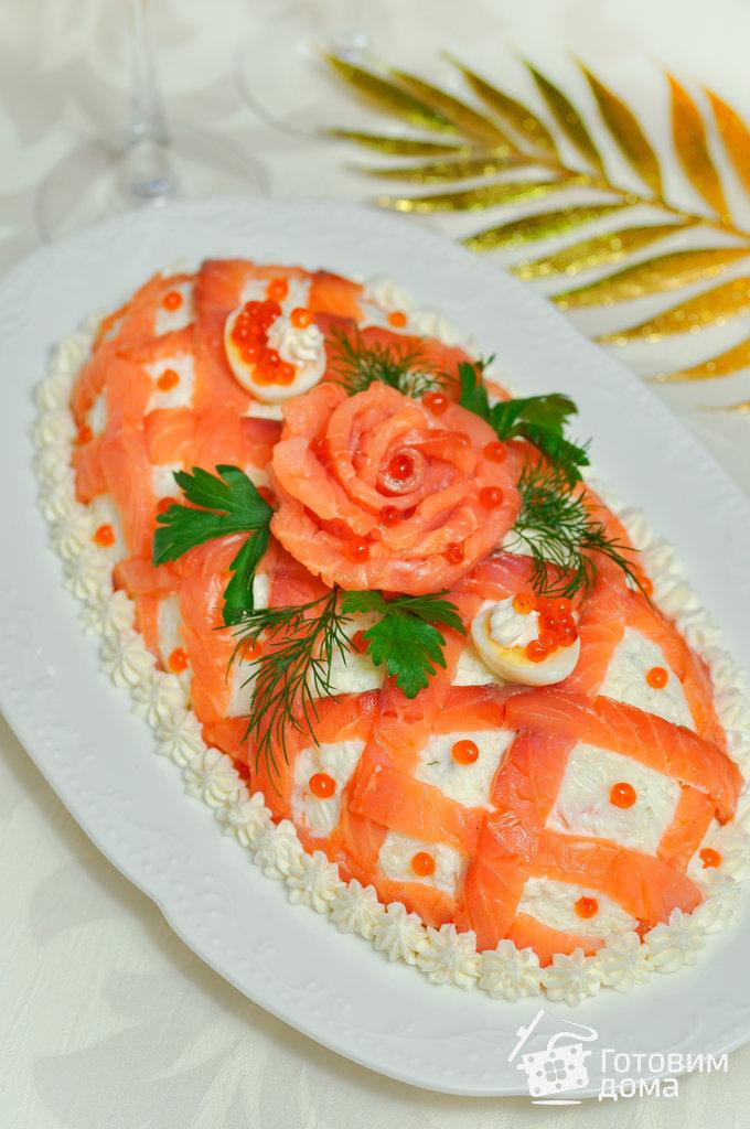Салатик с красной рыбой
