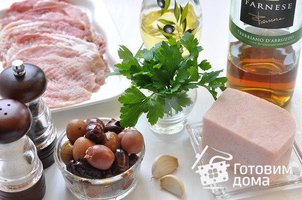 Рулетики из свинины с оливками, зеленью и чесноком фото к рецепту 1