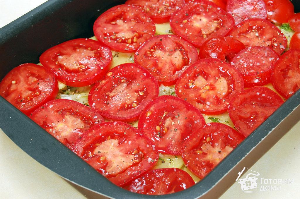Картошка помидорами и сыром в духовке с фото