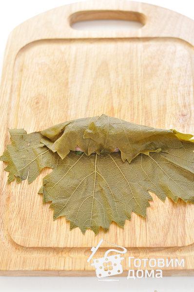 Долма (голубцы в виноградных листьях) фото к рецепту 6