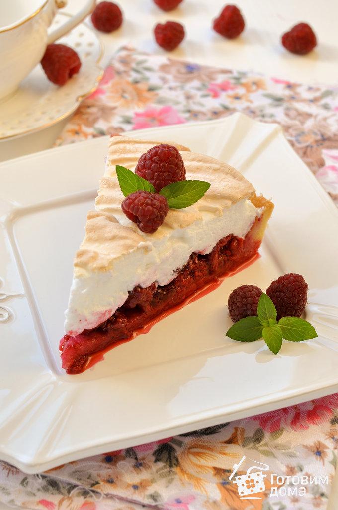 рецепт пирога с клубникой и безе с фото