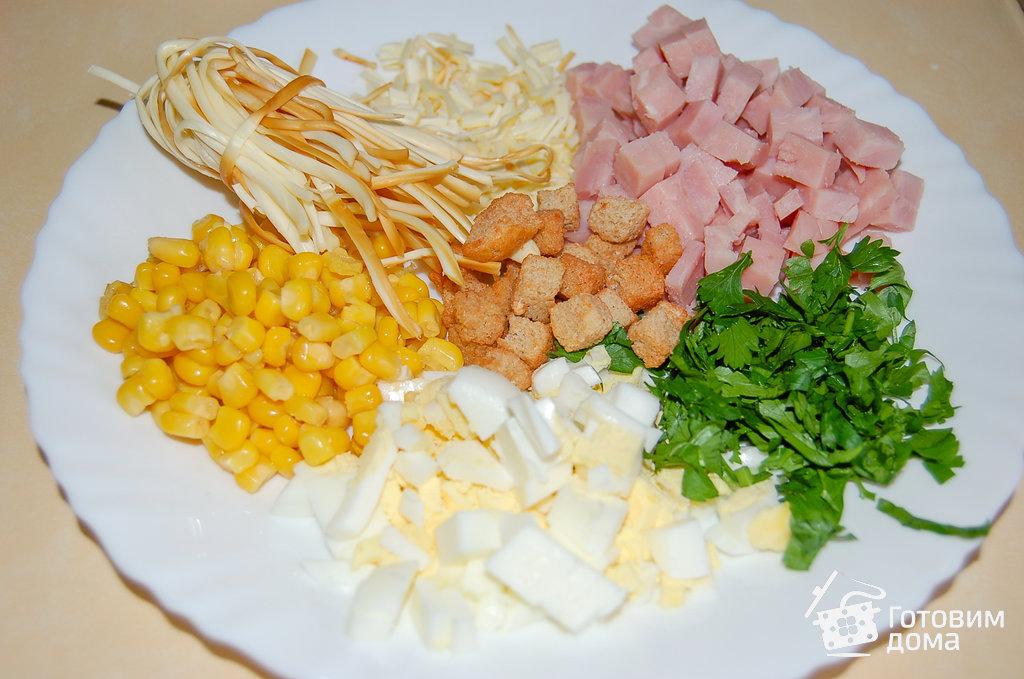 как приготовить салат с сыром косичка
