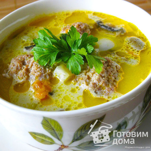 Как приготовить сырный суп с пошаговым фото