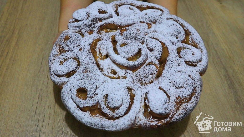 Как приготовить разборный яблочный пирог #1