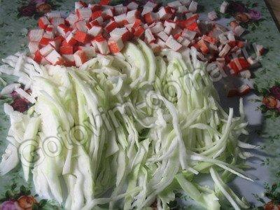 салат с крабовым мясом простой и вкусный рецепт