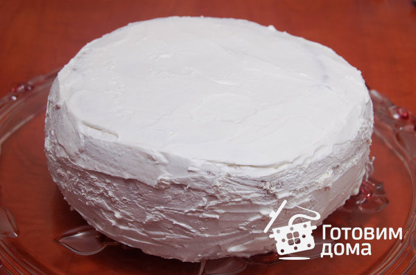"""Торт """"Очарование"""" (бисквит со взбитыми сливками и фруктами) фото к рецепту 15"""