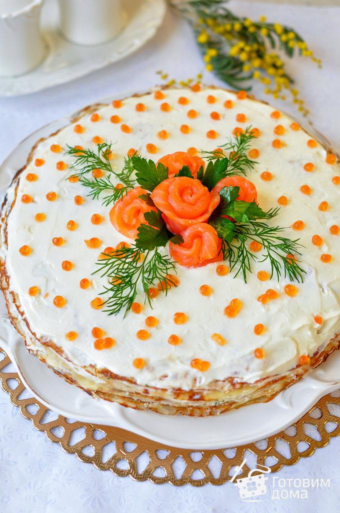 торт из семги с икрой рецепт видео