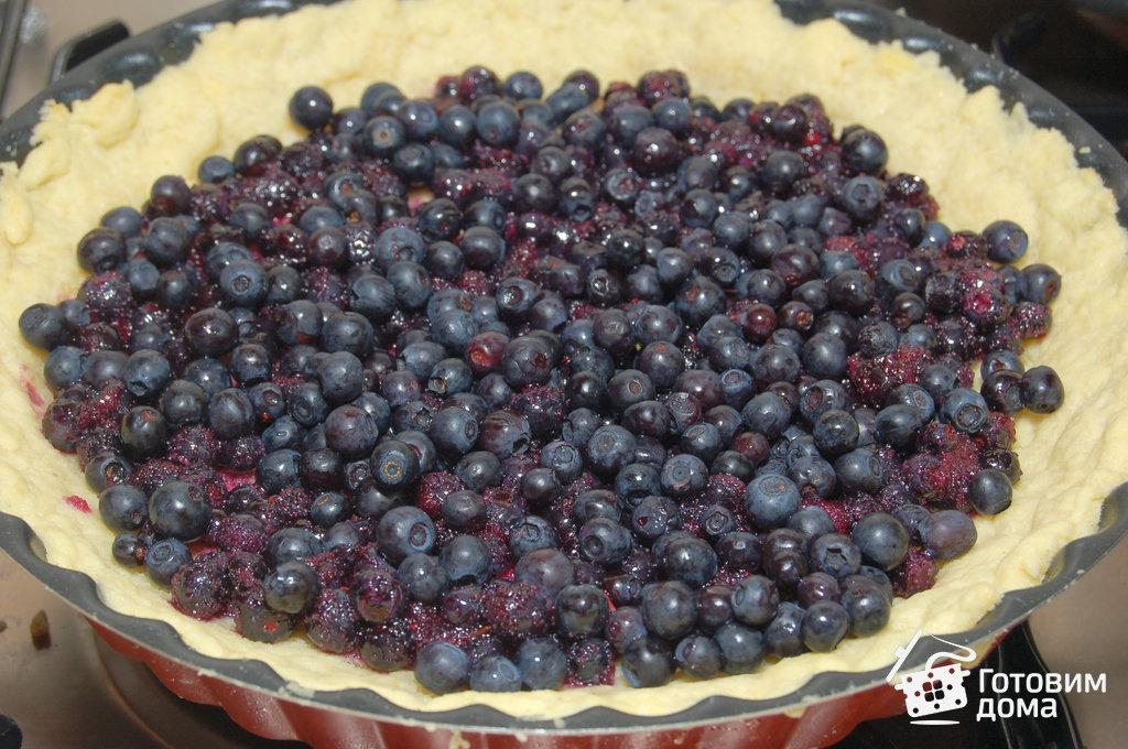 Песочный пирог с черникой рецепт