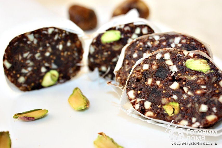 рецепт шоколадной колбасы без какао
