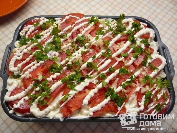 Цветная капуста с курицей в духовке фото к рецепту 1