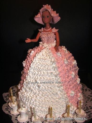 Как сделать торт куклу фото 24