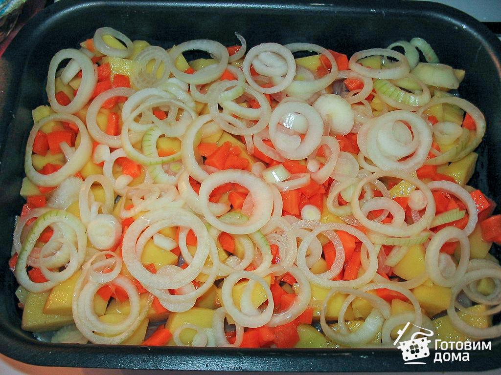 рыбное филе с картошкой в духовке