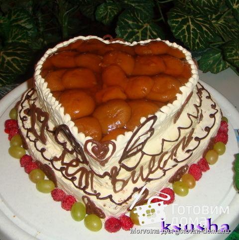 Торт Сердечко  Рецепт с   nyamru