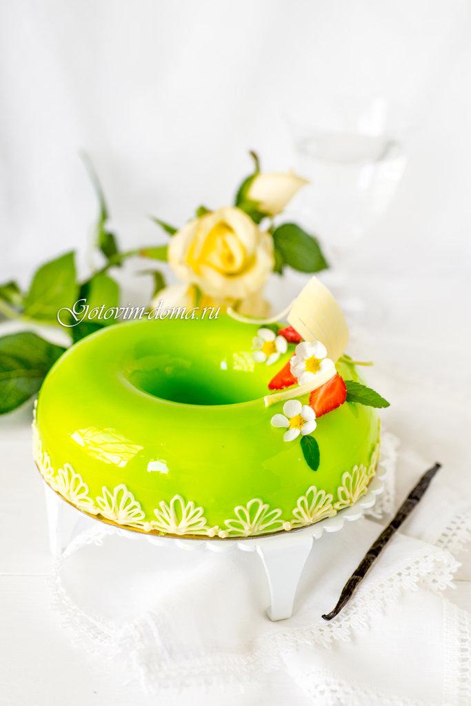 Клубника базилик муссовый торт