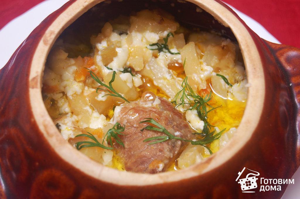 мясо в горшочках с картошкой пошаговый рецепт с фото