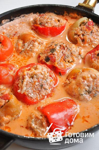 Перец, фаршированный мясной начинкой фото к рецепту 6