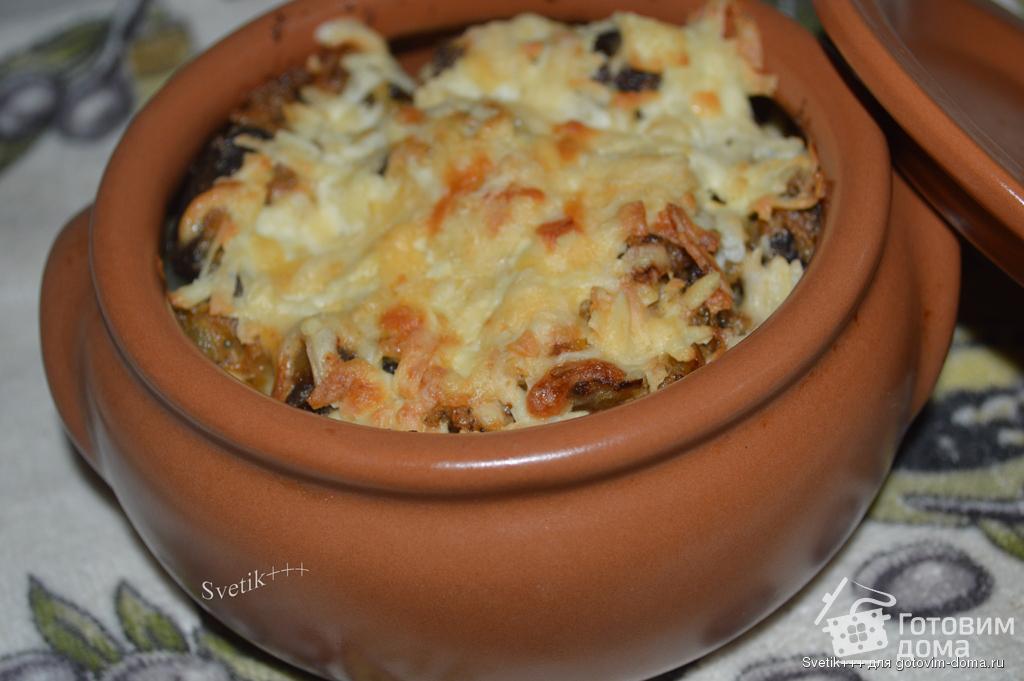 Печень в горшочках с картошкой рецепт пошагово