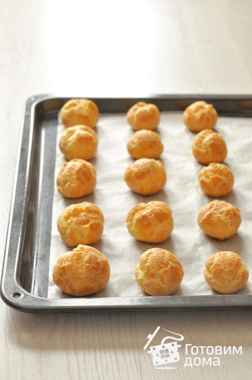 Профитроли с семгой и сливочным сыром - пошаговый рецепт с фото на Готовим дома