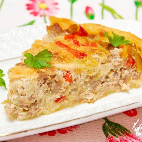 пирог с перцем болгарским перцем и
