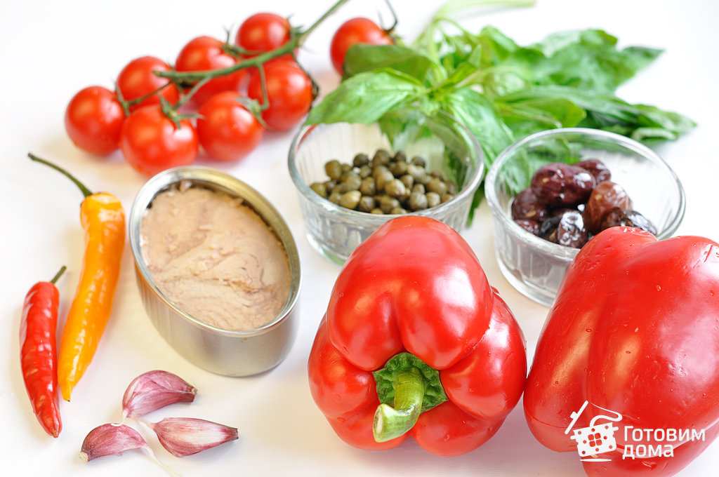 Перец, запеченный с помидорами и тунцом - пошаговый рецепт с фото на Готовим дома