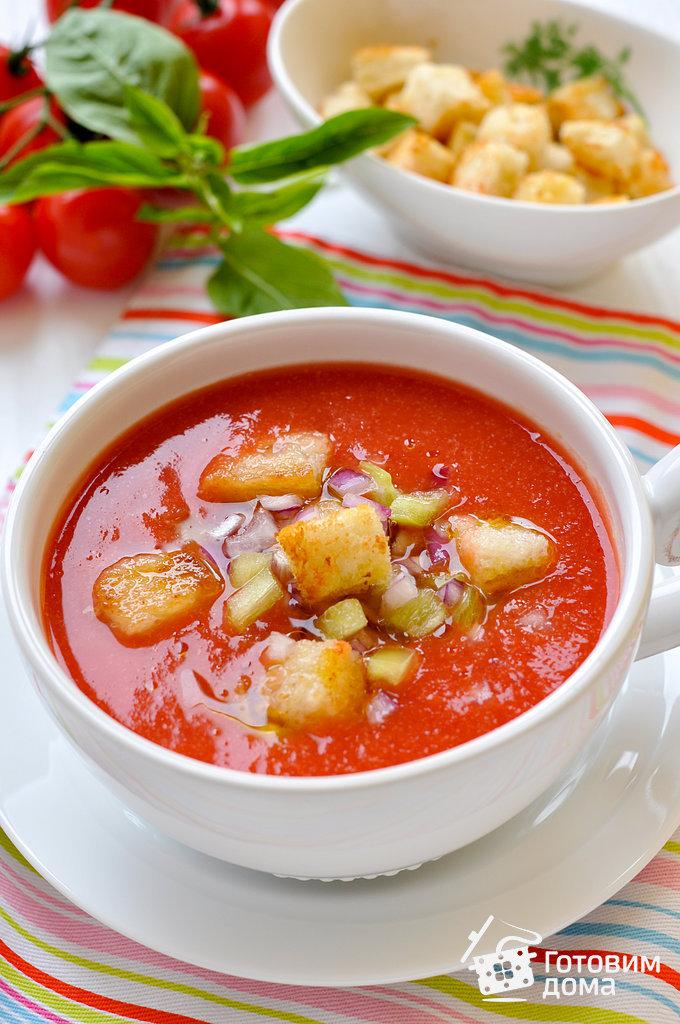 Протертый суп из помидор
