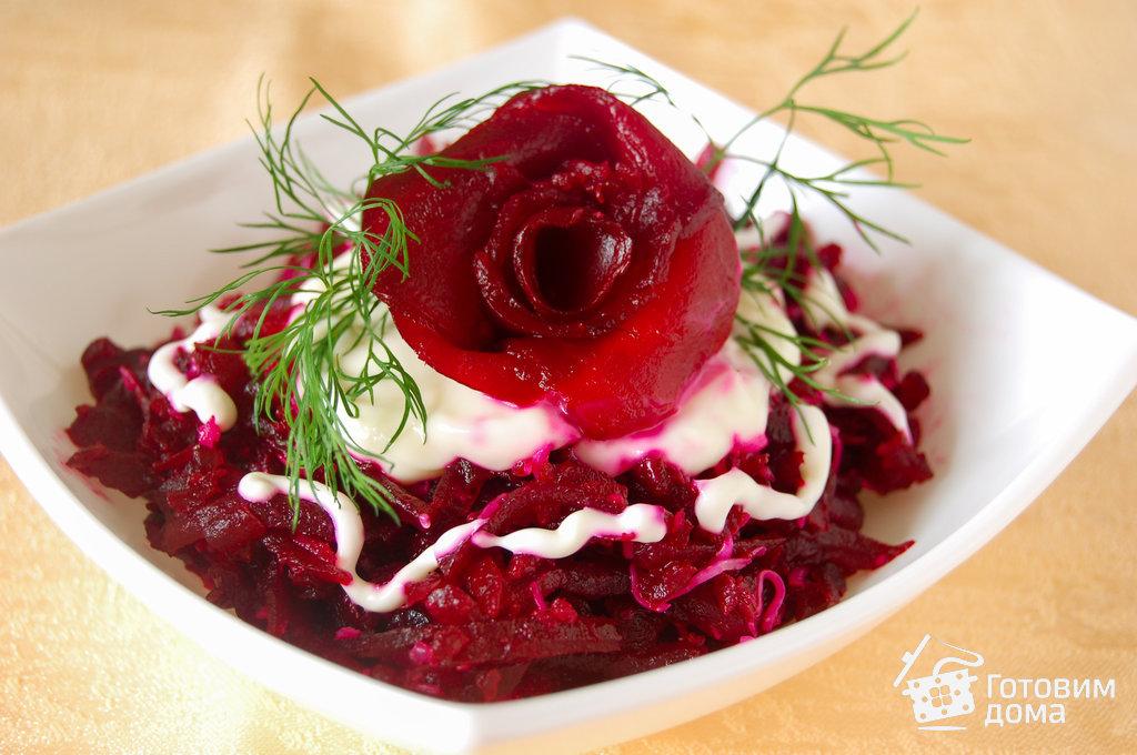 Как называется салат из свеклы с чесноком