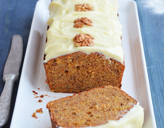 Морковно-гречневый кекс с грецким орехом