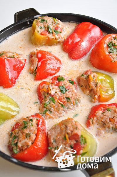Перец, фаршированный мясной начинкой фото к рецепту 5