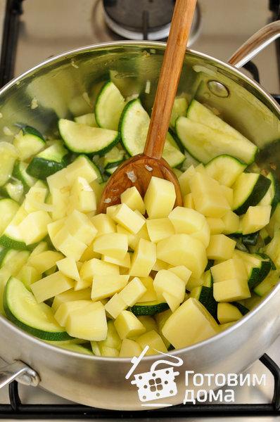 Суп-пюре с цуккини (молодыми кабачками) фото к рецепту 4