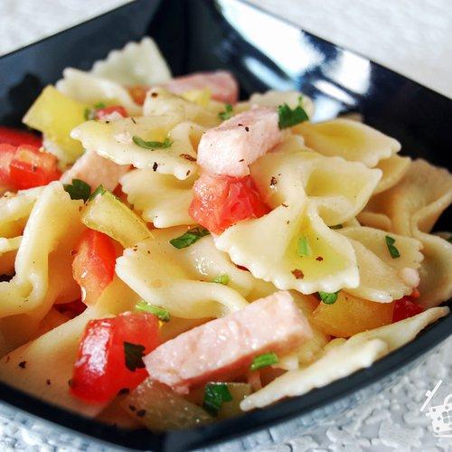 салат с макаронами и ветчиной рецепт фото