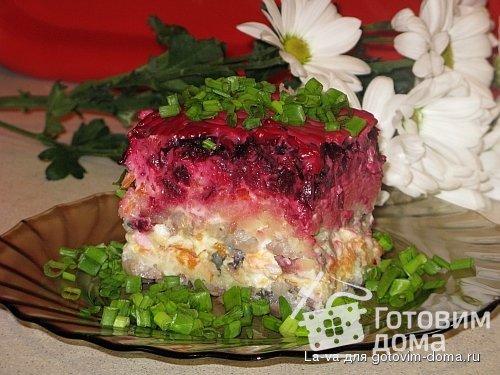 рецепт сельдь под шубой с плавленным сыром