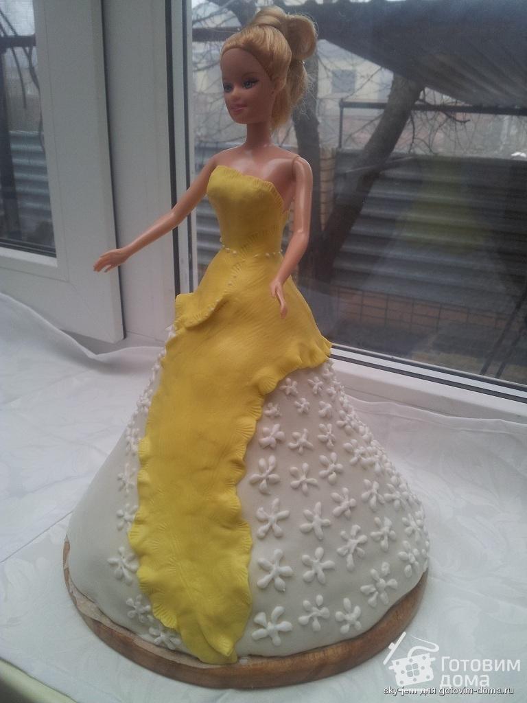 Как сделать торт с куклой барби самой фото 820