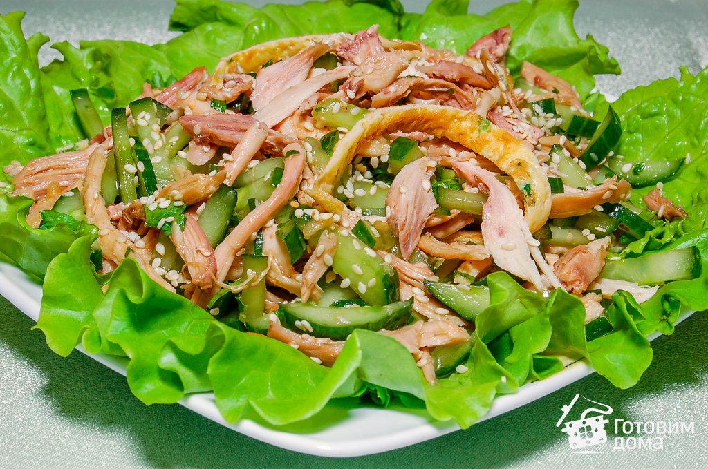 салат из куриной грудки с соевым соусом рецепт