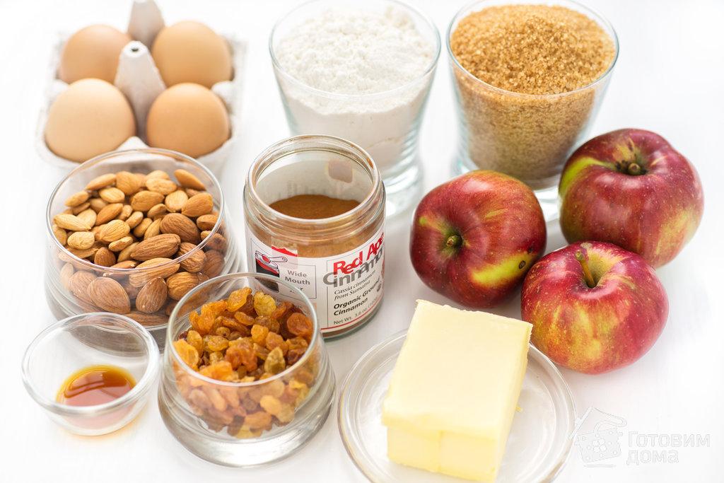 Яблочный пирог с орехами и изюмом - пошаговый рецепт с фото на Готовим дома