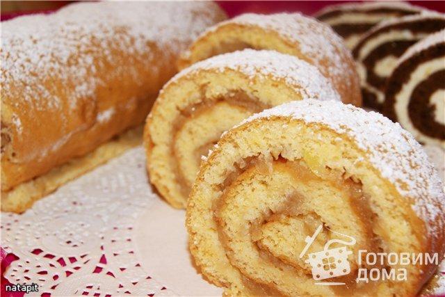 рулеты бисквитные с начинкой рецепты с фото