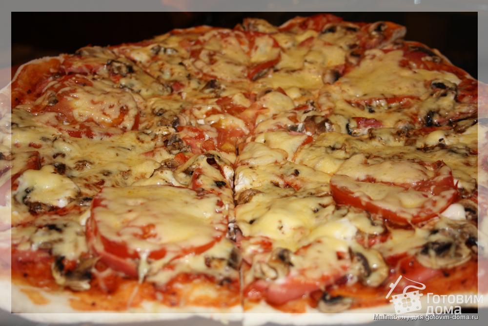 Пица с закруткой из помидор
