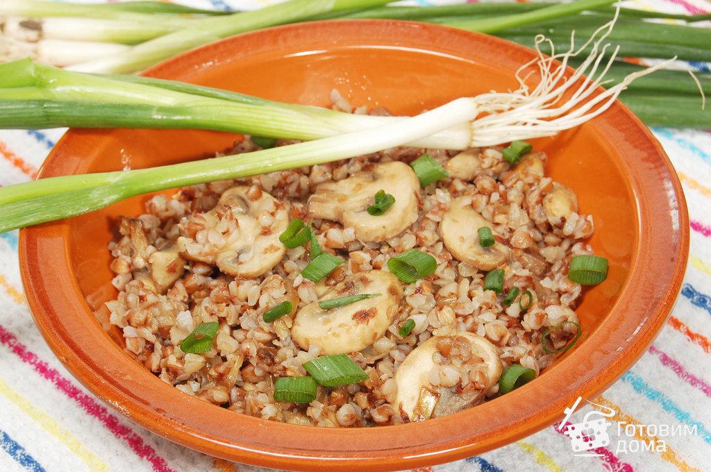 Рецепт гречневой каши с грибами и луком
