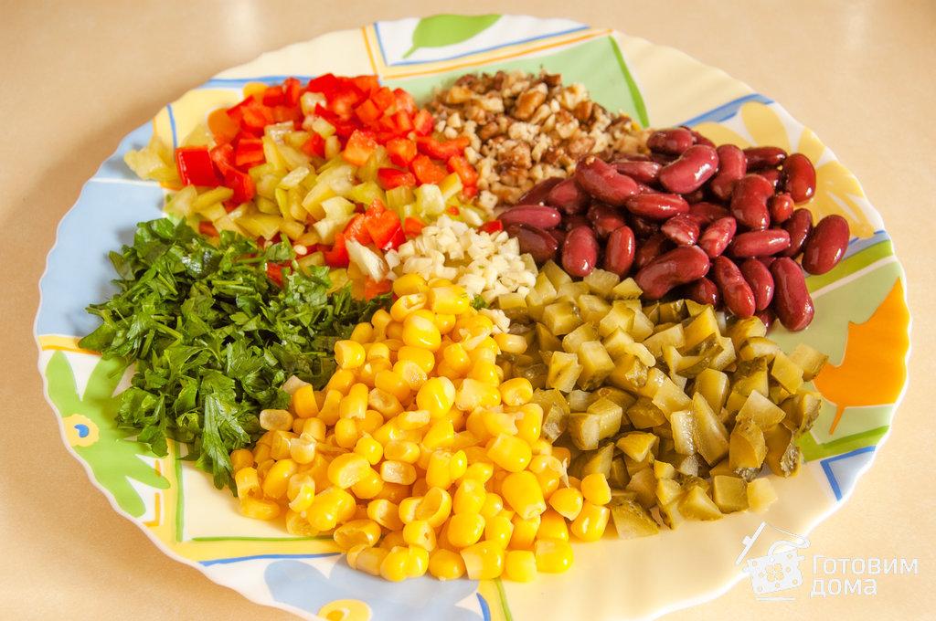 легкий салат из фасоли рецепты