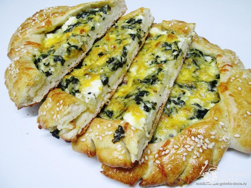 Хачапури со шпинатом и сыром рецепт с фотографиями