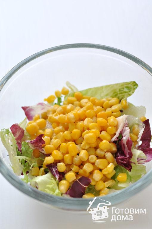 Салат из кукурузы и яблок