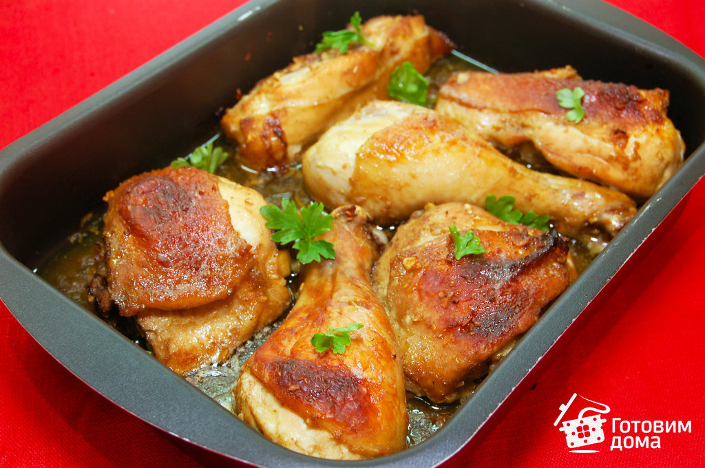 Курица с горчицей и майонезом