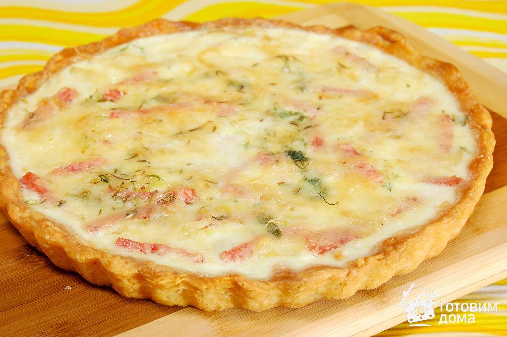 киш с сыром и ветчиной рецепт