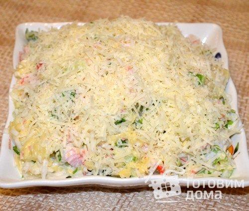 Салат морская пена рецепт пошагово 3